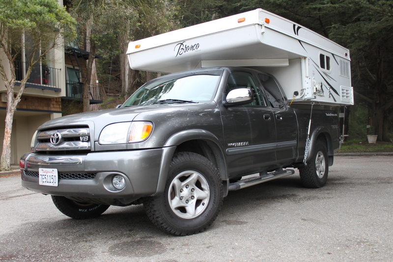 Tundra 4wd Trd With Bronco 800 Pop Up Camper Expedition