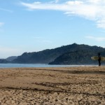 Scouting the morning surf in Sayulita