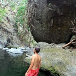 A much appreciated dip in the nearby swimming hole