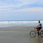 Endless beach provided for excellent bicycle exploration