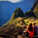 Our favorite part of the day, late afternoon just chillin on Machu Picchu