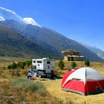 Camping outside of Yungay